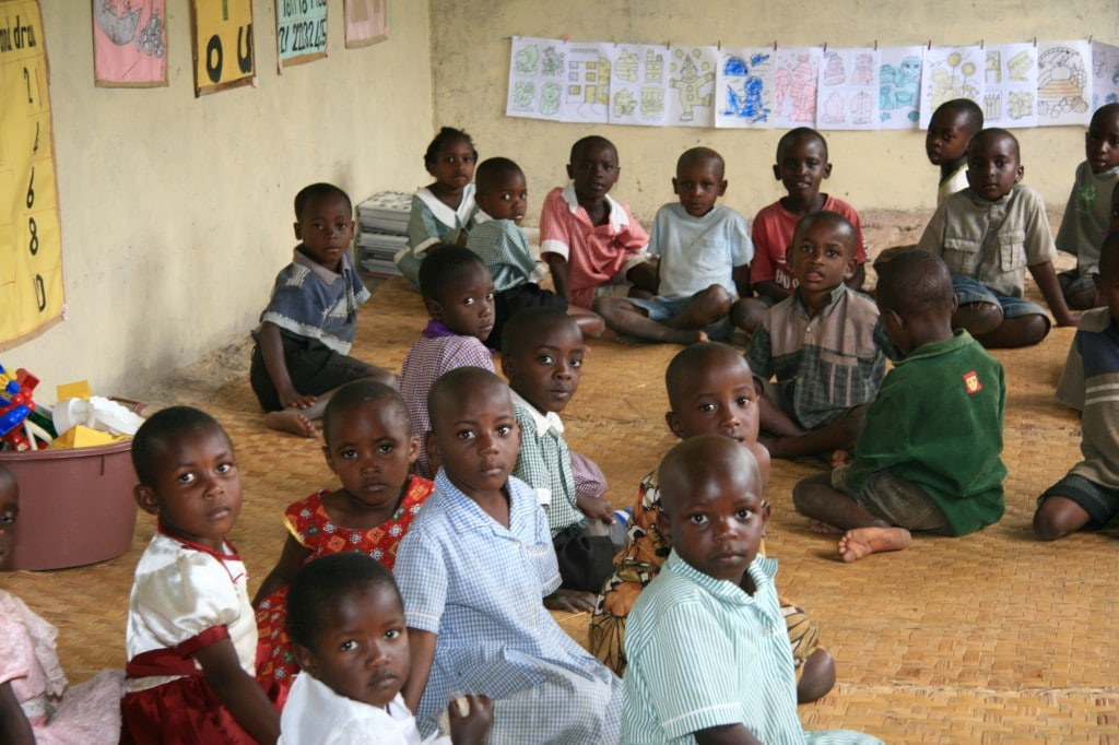 Local School in Uganda in East Africa
