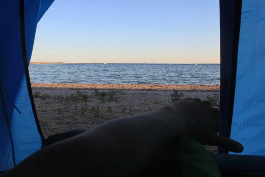 Lekker wakker worden aan Streaky Bay