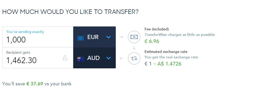 geld overmaken naar Australië