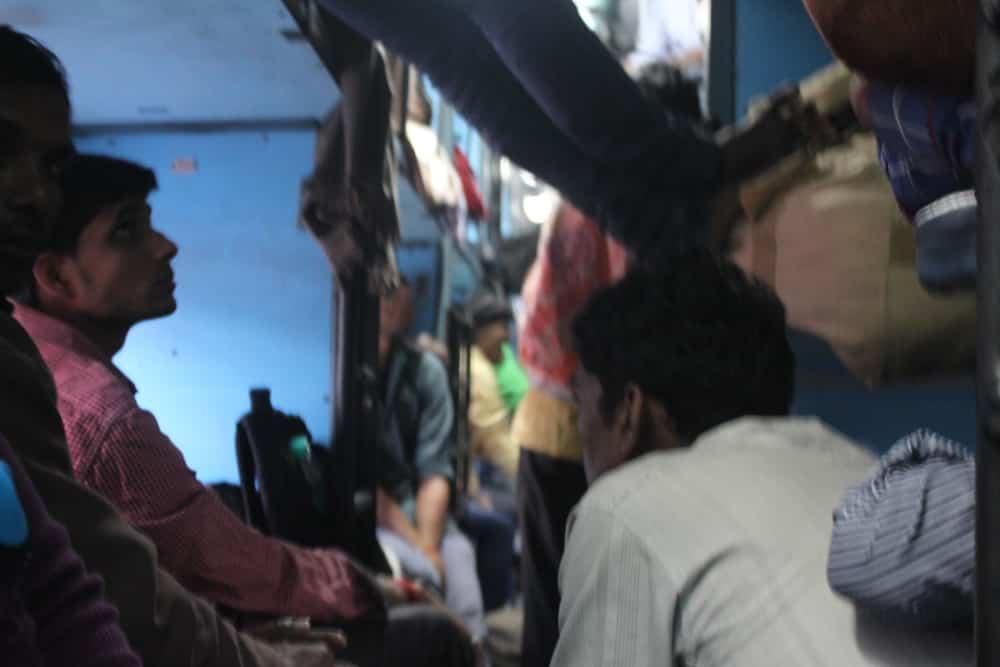 Lekker vol treintje in India