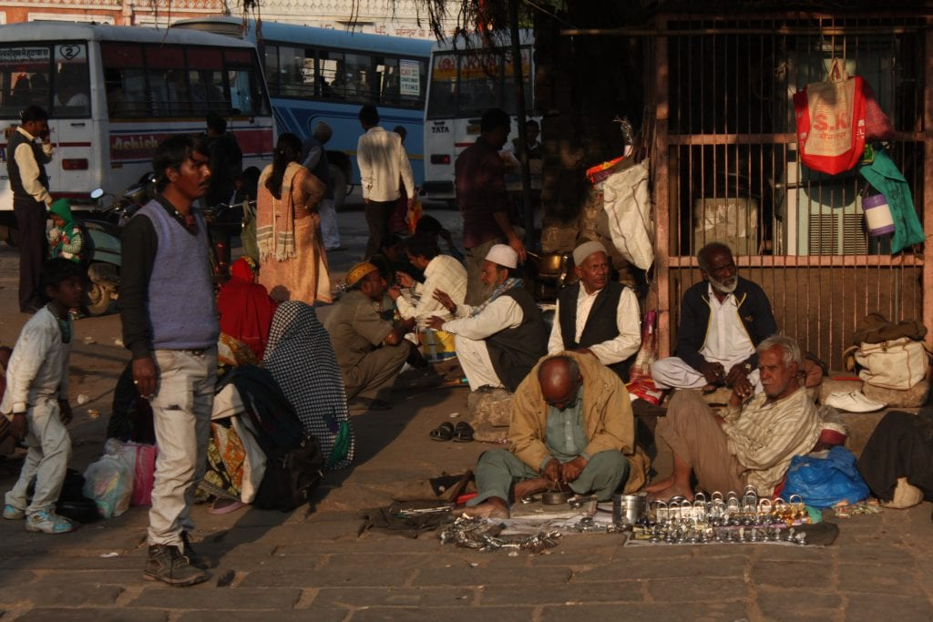 Backpacken in India: mensen kijken