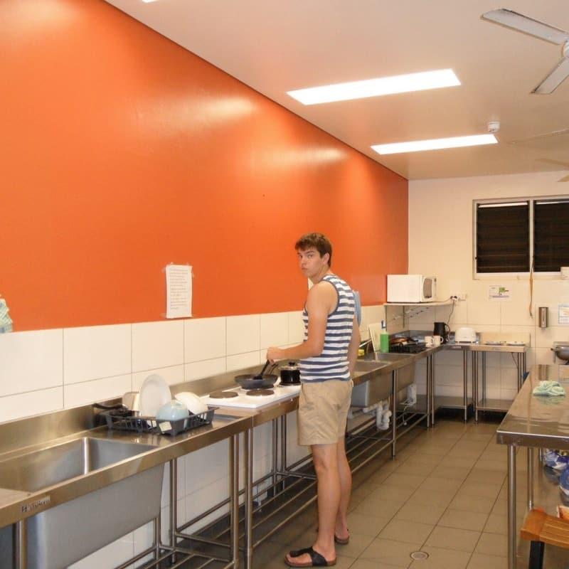 Memorabel: het eerste ei dat ik ooit in een hostel bakte ;)!