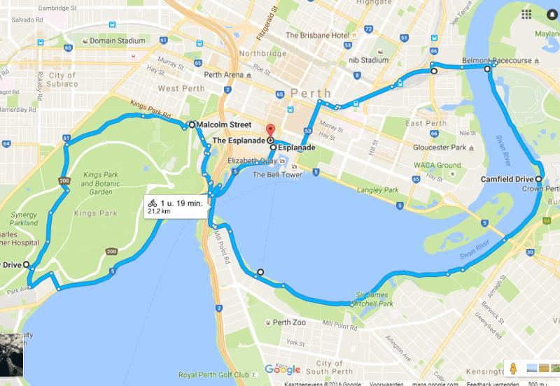 Bikeroute Perth