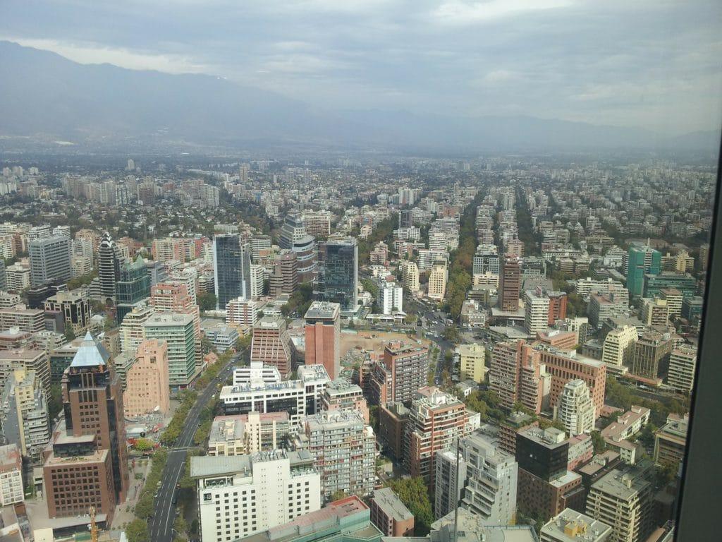 Santiago onder deken van smog