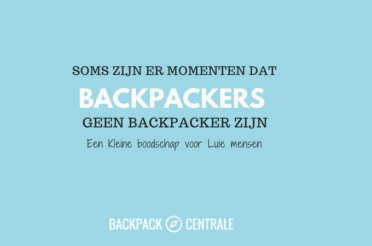 Als Backpacken Geen Backpacken Meer Is…